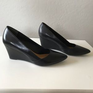 Franco Sarto Frankie Black Wedge Shoes Size 9